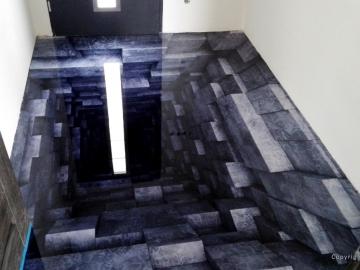 podłoga 3 d dziura