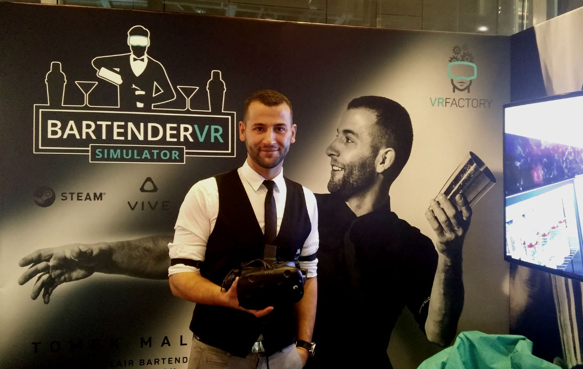 Tomasz Malek z Flair Factory z Bartender VR