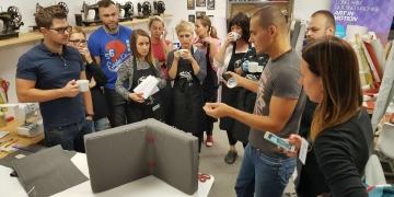 Warsztaty Tapicerskie ak design Aleksander Kądziela- uczestnicy szkolenia